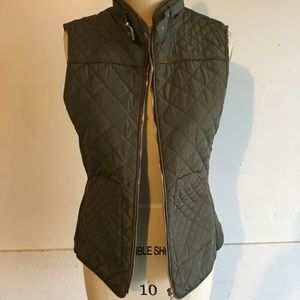 NWT Quilted Military Green Vest